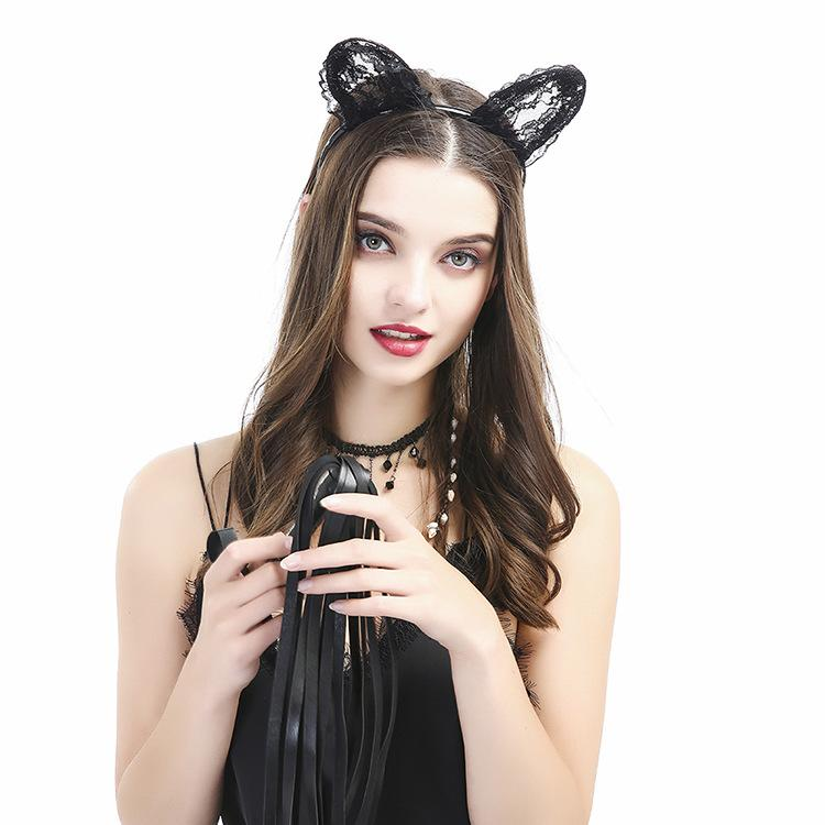 3pcs Japanese Cosplay Sex Girl Costume Flirting Sexy Whip Cat Ear Neck Collar Nightclub Sex Party lingerie sex accessories